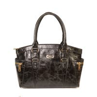 AYL Del Valle Top Handle Leather Tote Bag - Medium