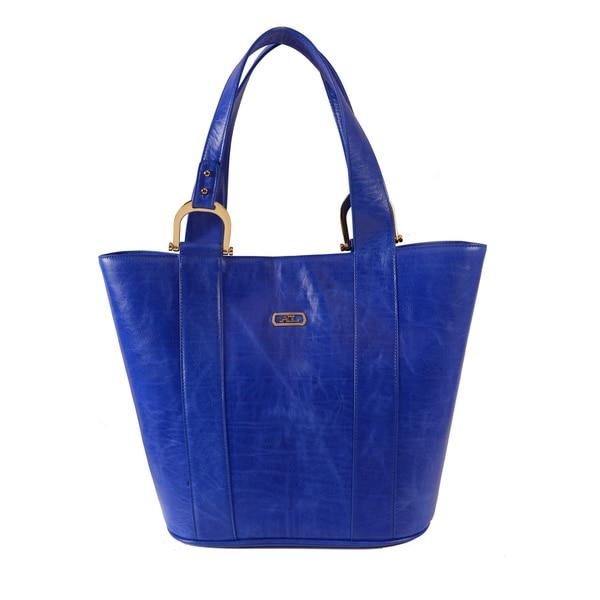 AYL Wynwood Leather Bucket Tote Bag - XL