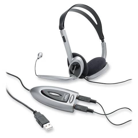 Compucessory Multimedia USB Stereo Headset - 1/EA