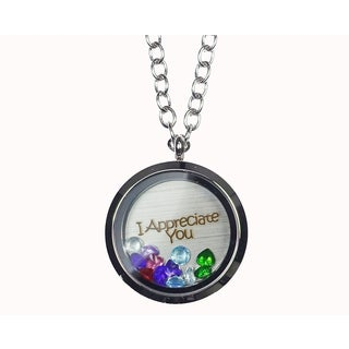 Pink Box 'I Appreciate You' Stainless Steel Love Message Locket
