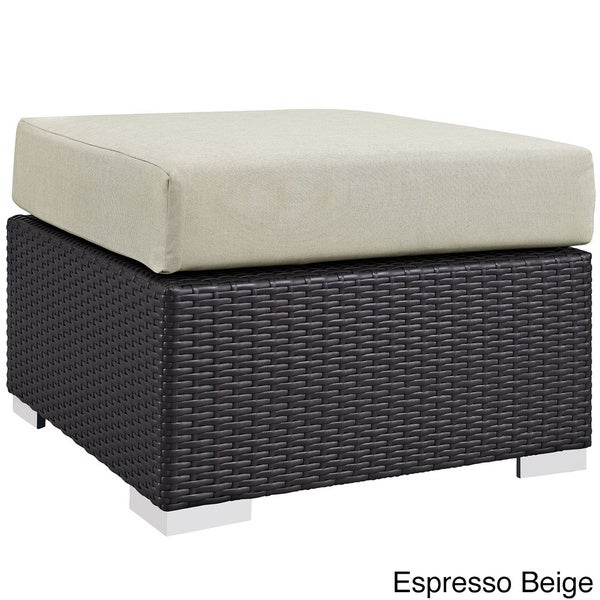 Gather Outdoor Patio Fabric Ottoman   Free Shipping Today   Overstock.com    18137930