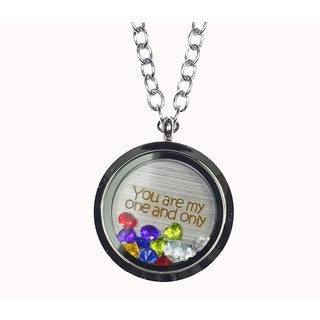 Pink Box 'You Are My One and Only' Stainless Steel Love Message Locket