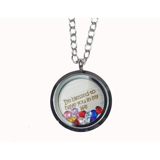 Pink Box 'I'm Blessed To Have You in My Life' Stainless Steel Love Message Locket