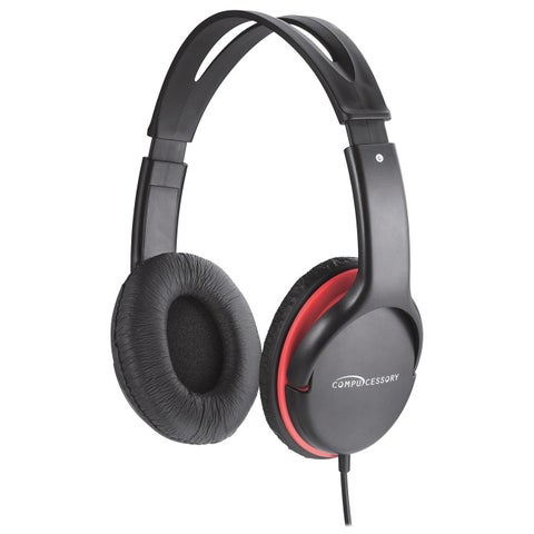 Compucessory Stereo Headset w/ Volume Control - 1/EA