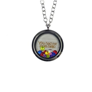 Pink Box 'You Had Me From Hello' Stainless Steel Love Message Locket
