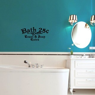 Bath 25c Towel and Soap Extra 24 x 12-inch Bathroom Wall Decal