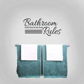 Bathroom Rules 24 x 11-inch Wall Decal|https://ak1.ostkcdn.com/images/products/11138689/P18137980.jpg?impolicy=medium