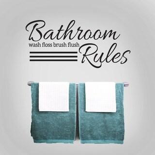 Bathroom Rules 36 x 16.5-inch Wall Decal