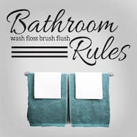 Bathroom Rules 48 x 22-inch Wall Decal