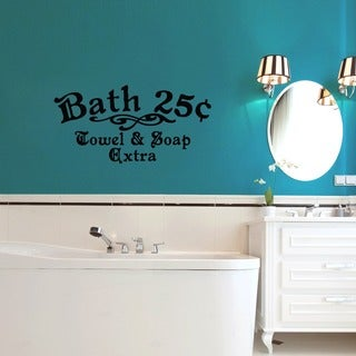 Bath 25c Towel and Soap Extra 36 x 18-inch Bathroom Wall Decal