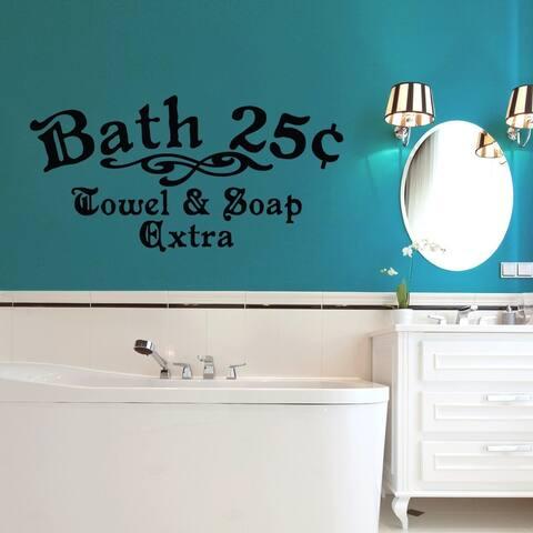 Bath 25c Towel and Soap Extra 48 x 24-inch Bathroom Wall Decal