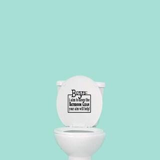 Boys' 8 x 8-inch Funny Bathroom Toilet Decal