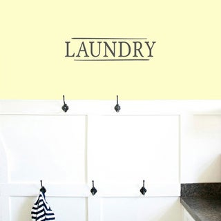 Link to Laundry' 18 x 4.5-inch Wall Decal Similar Items in Vinyl Wall Art