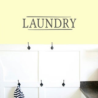 Laundry' 24 x 6-inch Wall Decal