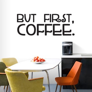 But First Coffee' 60 x 22.5-inch Wall Decal (More options available)