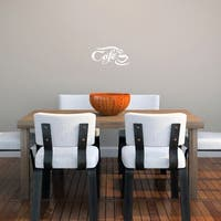Cafe' 10 x 5-inch Wall Decal