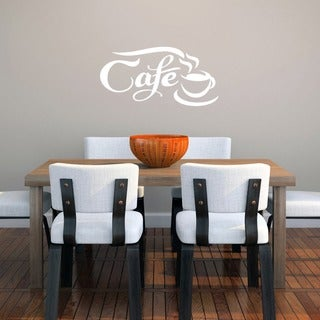 Cafe' 22 x 11-inch Wall Decal