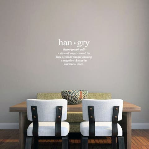 Hangry Kitchen 18 x 13-inch Wall Decal