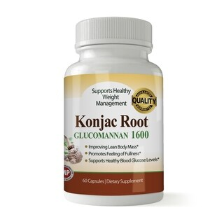 Pure Konjac Root 1600 MG for Weight Loss (90 Capsules)