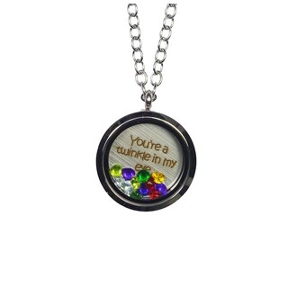 Pink Box 'You're a Twinkle in My Eye' Stainless Steel Love Message Locket