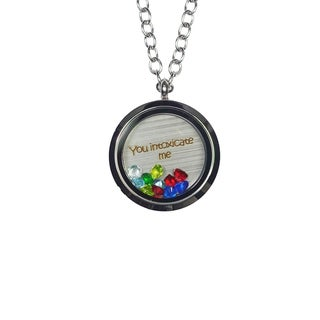 Link to Pink Box 'You Intoxicate Me' Stainless Steel Love Message Locket Similar Items in Fashion Jewelry Store