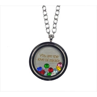 Link to Pink Box 'You Are The Love of My Life' Stainless Steel Love Message Locket Similar Items in Fashion Jewelry Store