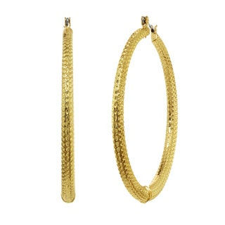 Alexa Starr Hammered Hoop Earrings