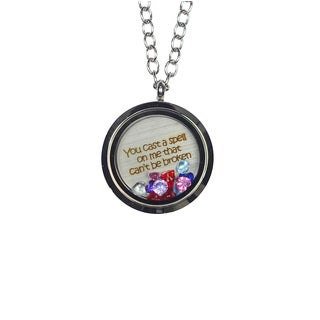 Pink Box 'You Cast a Spell On Me That Can't Be Broken' Stainless Steel Love Message Locket