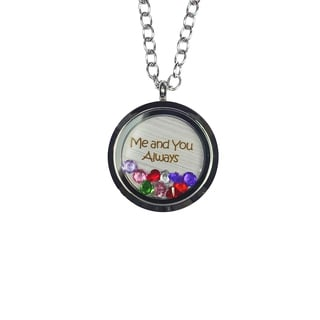 Pink Box 'Me and You Always' Stainless Steel Love Message Locket