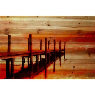 Link to Handmade Parvez Taj - Sunset Dock Print on Natural Pine Wood Similar Items in Wood Wall Art