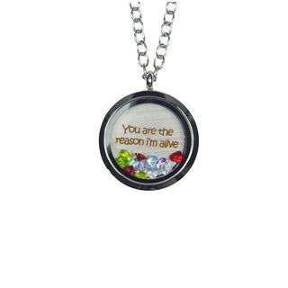 Pink Box 'You Are The Reason I'm Alive' Stainless Steel Love Message Locket