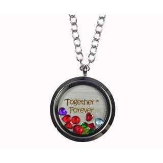 Pink Box 'Together * Forever' Stainless Steel Love Message Locket