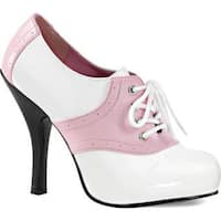 Women's Funtasma Saddle 48 Baby Pink/White Patent