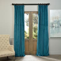 Exclusive Fabrics Signature Velvet 96-inch Blackout Curtain Panel Size 96'L in Teal(As Is Item)