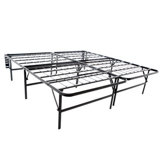 Structures Highrise Foldable Bed Frame & Mattress Foundation- 18-inch Deluxe Height Cal King