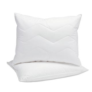 Fusion 95/5 Mini Feather and Down Pillow with Quilted Cotton Cover - White