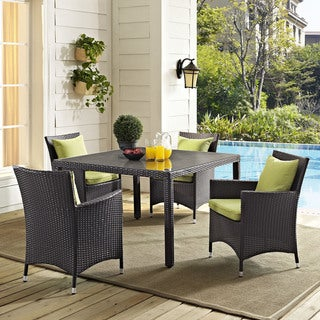 "Gather 47"" Square Outdoor Patio Glass Top Dining Table"