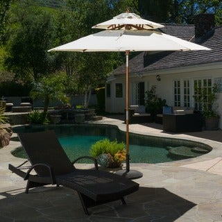 Christopher Knight Home Outdoor Toluca 8.75-foot Tilt Canopy Umbrella