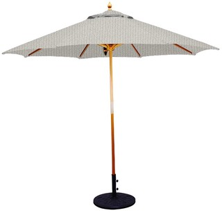 11' Umbrella with Light Wood Pole and Canvas Shade