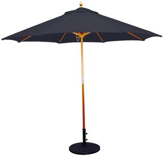 11' Umbrella with Light Wood Pole and Navy Shade