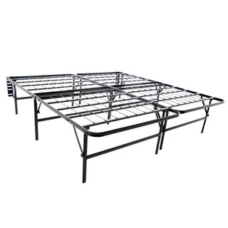 Structures Highrise Foldable 18-inch Deluxe Height King-sized Bed Frame and Mattress Foundation
