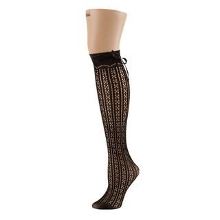 Memoi Women's Bowtastic Knee High