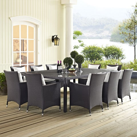 """Clay Alder Home Stillwater 90"""" Outdoor Patio Dining Table"""