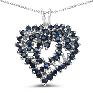 Link to Malaika 2.30 Carat Genuine Blue Sapphire .925 Sterling Silver Pendant Similar Items in Earrings