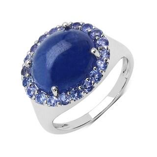 Olivia Leone 7.80 Carat Genuine Tanzanite .925 Sterling Silver Ring