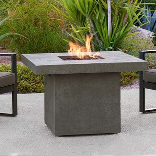 Real Flame Glacier Grey Ventura 32 x 32-inch Square Chat Height Fire Table