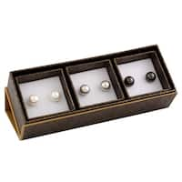 Sterling Silver Pearl Stud Earrings (9-10mm)