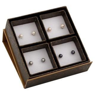 Sterling Silver White Freshwater Pearl Earrings (6-7mm)