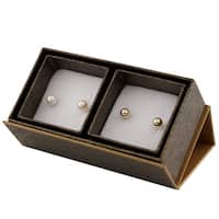 14k Yellow Gold Freshwater Pink Pearl Earrings (6mm)