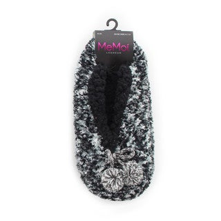 Memoi Women's Speckled Sherpa Lined Slipper